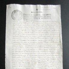 Manuscritos antigos: AÑO 1779. PEÑEMELLERA. ABANDAMES. ASTURIAS. ESCRITURA VENTA Y ENAJENACIÓN TIERRA. 30 DUCADOS.. Lote 160964674