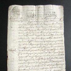 Manuscritos antiguos: AÑO 1755. CANTORIA. ALMERÍA. SE MIDE EL VINO QUE HAY EN BODEGA MAYORAZGO. HACIENDA DE FAXA.. Lote 160980174