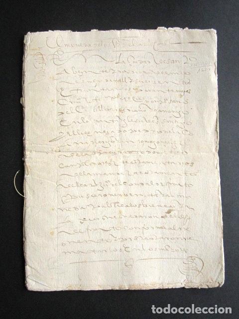 AÑO 1630. CORUÑA. SANTIAGO. ARCEDIANO Y CANÓNIGO DE IGLESIA DE SANTIAGO. VENTA DE BIENES DE CARDENAL (Coleccionismo - Documentos - Manuscritos)