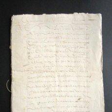 Manuscritos antiguos: AÑO 1630. CORUÑA. SANTIAGO. ARCEDIANO Y CANÓNIGO DE IGLESIA DE SANTIAGO. VENTA DE BIENES DE CARDENAL. Lote 160992498