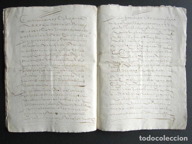 Manuscritos antiguos: AÑO 1630. CORUÑA. SANTIAGO. ARCEDIANO Y CANÓNIGO DE IGLESIA DE SANTIAGO. VENTA DE BIENES DE CARDENAL - Foto 2 - 160992498