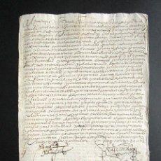 Manuscritos antiguos: AÑO 1613. GRANADA. MANDATO DEL ALGUACIL MAYOR DE GRANADA SOBRE PAGO, ADMITE POSIBLE MULTA PAGOS. . Lote 160994042