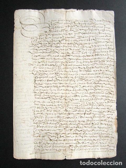 AÑO 1591. HUELVA. CORTEGANA. ESCRITURA VENTA DE TIERRS DEL BARRANCO EN TÉRMINO DE AROCHE. (Coleccionismo - Documentos - Manuscritos)