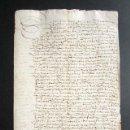 Manuscritos antiguos: AÑO 1591. HUELVA. CORTEGANA. ESCRITURA VENTA DE TIERRS DEL BARRANCO EN TÉRMINO DE AROCHE. . Lote 161108318