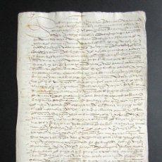 Manuscritos antiguos: AÑO 1591. HUELVA. CORTEGANA. CARTA DE VENTA TIERRAS DEL GARROCHADO EN TÉRMINO AROCHE. . Lote 161108814