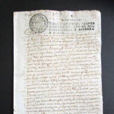 Manuscritos antiguos: AÑO 1769. SANTANDER. AMPUERO. PODER QUE SE OTORGA EN SANTANDER DEL CONSEJO SUPREMO DE LA INQUISICIÓN. Lote 161506762