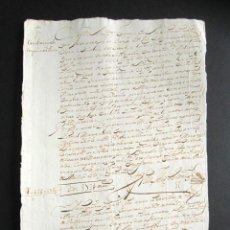 Manuscritos antiguos: AÑO 1720. OSUNA, SEVILLA. MARQUÉS DE VALLEHERMOSO Y COLEGIO COMPAÑÍA DE JESÚS, SAN LUCAR BARRAMEDA. Lote 161519610