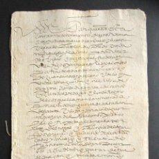 Manuscritos antiguos: AÑO 1600. VALLADOLID. OLMEDO. RECONOCIMIENTO DE CENSO DEL MONASTERIO DE SANTIESPIRITUS DE OLMEDO. . Lote 161521966