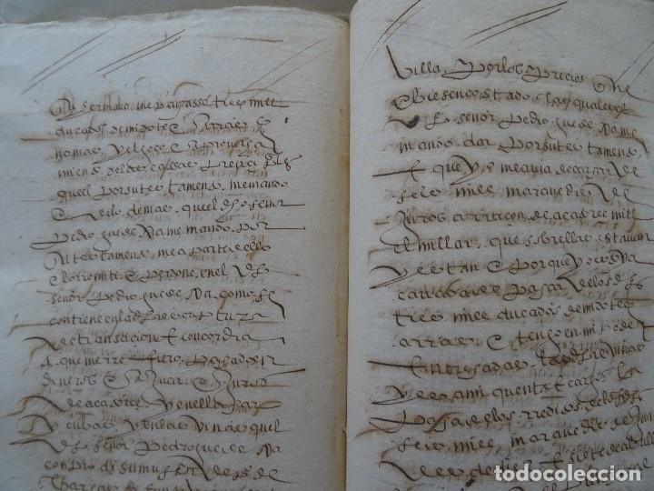 Manuscritos antiguos: Salamanca, Alba de Tormes, 1577, censo de viñas, cofradía San Marcos, monasterio Santa Ana - Foto 4 - 161532958