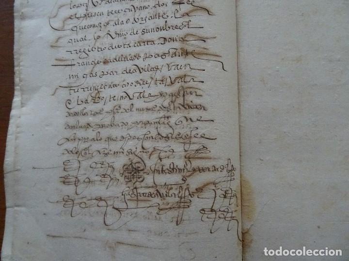 Manuscritos antiguos: Salamanca, Alba de Tormes, 1577, censo de viñas, cofradía San Marcos, monasterio Santa Ana - Foto 5 - 161532958