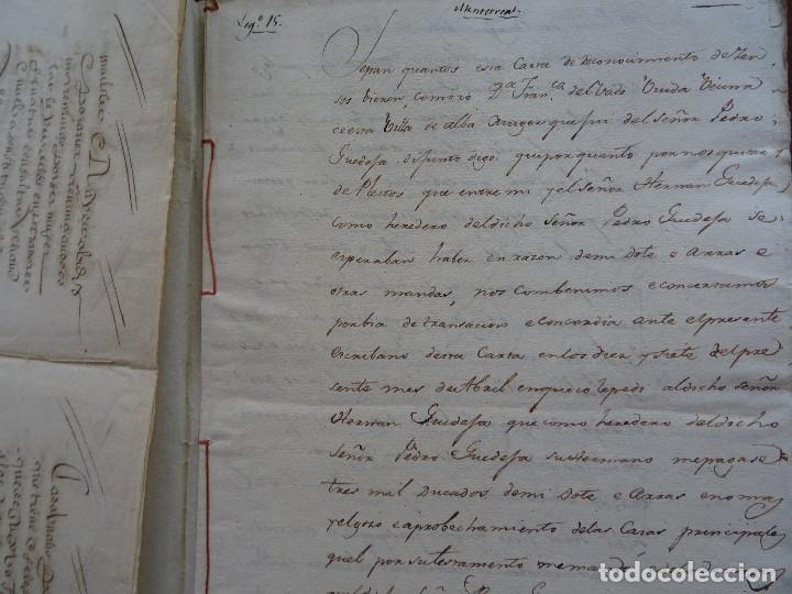 Manuscritos antiguos: Salamanca, Alba de Tormes, 1577, censo de viñas, cofradía San Marcos, monasterio Santa Ana - Foto 6 - 161532958