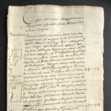 Manuscritos antiguos: ZAMORA. VILLAMAYOR DE CAMPOS. DOCUMENTO DE 18 PÁGINAS.. Lote 161579250