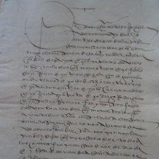Manuscritos antiguos: SEVILLA, MONASTERIO SANTIAGO LA ESPADA ARRENDAMIENTO CASAS AL SACRISTÁN MAYOR DE LA CATEDRAL, 1551. Lote 161677586