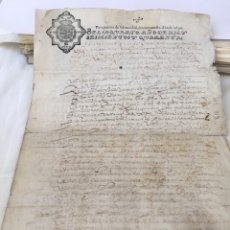 Manuscritos antiguos: FELIPE IV 1640. MANUSCRITO. PAPEL SELLADO O TIMBRADO. SELLO POBRES DE SOLEMNIDAD. 2 MARAVEDIS. Lote 162455574