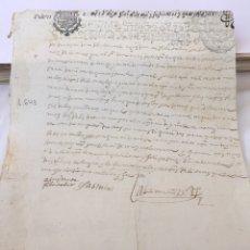 Manuscritos antiguos: FELIPE IV 1643. MANUSCRITO. PAPEL SELLADO O TIMBRADO. POBRES DE SOLEMNIDAD HABILITADO PARA 1643. Lote 162458345