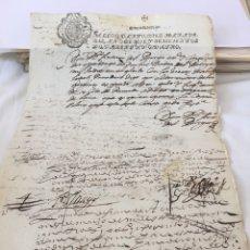 Manuscritos antiguos: FELIPE IV 1644. MANUSCRITO. PAPEL SELLADO O TIMBRADO. SELLO CUARTO (4º) 10 MARAVEDIS. Lote 162460170
