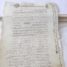 Manuscritos antiguos: FELIPE IV 1647. MANUSCRITO, PAPEL SELLADO O TIMBRADO, SELLO PRIMERO (1º) HABILITADO, 272 MARAVEDIS. Lote 162545496