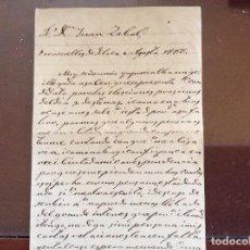 Manuscritos antiguos: CARTA DE LEONCIO DE FRANCIA DEL 1800 POLITICA. Lote 162606778