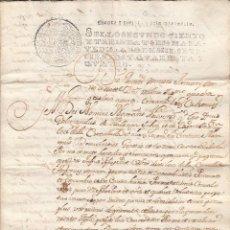 Manuscritos antiguos: 1744 MATARO (BARCELONA) SELLO FISCAL 2º.136 MRS DOCUMENTO MANUSCRITO PAPEL SELLADO. Lote 162630694