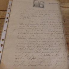Manuscritos antiguos: PANDO, VILLAVICIOSA, 1886, CERTIFICADO DE BAUTISMO, SELLO IGLESIA SANTA EUGENIA. Lote 162778326