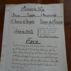 Manuscritos antiguos: CORUÑA, NOIA, MONASTERIO TOXOS OUTOS, 1563, FORO DEL CASAL Y LUGAR DE PIÑEIRO, SANTA MARÍA DE ARGALO. Lote 162934610