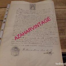 Manuscritos antiguos: SALVATIERRA, ZARAGOZA, 1869, PARTIDA DE BAUTISMO. Lote 162943170