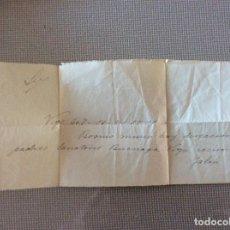 Manuscritos antiguos: COMUNICACIÓN FALLECIMIENTO. SANATORIO BUENAGA VIGO. Lote 163561858