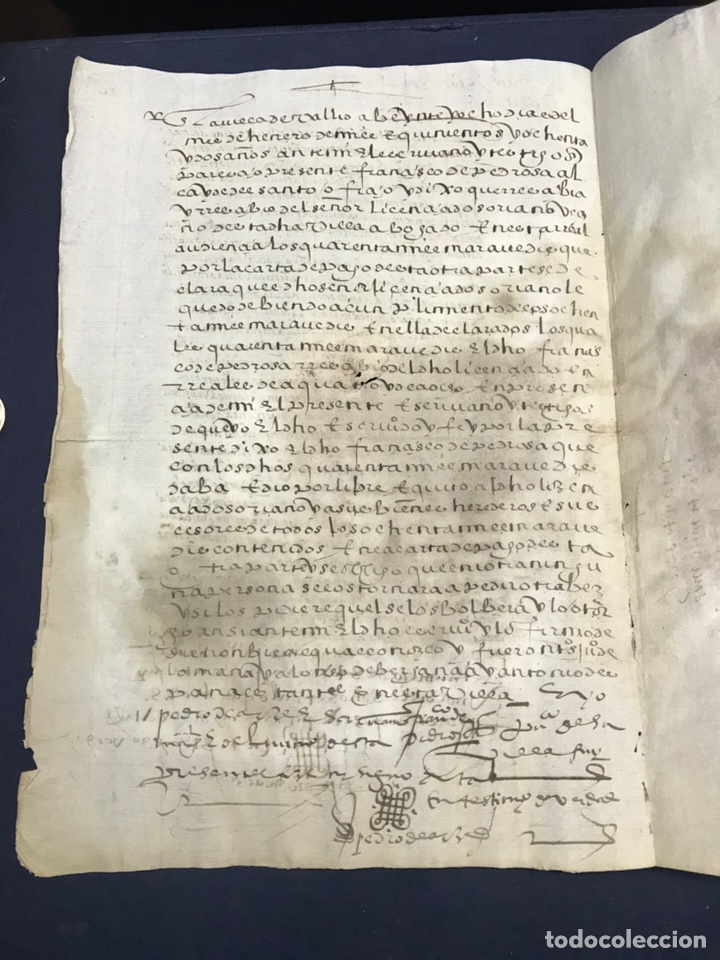 Manuscritos antiguos: VALLADOLID 1581. FINIQUITO DE 80.000 DE FRANCISCO DE PEDROSA - Foto 4 - 163764842
