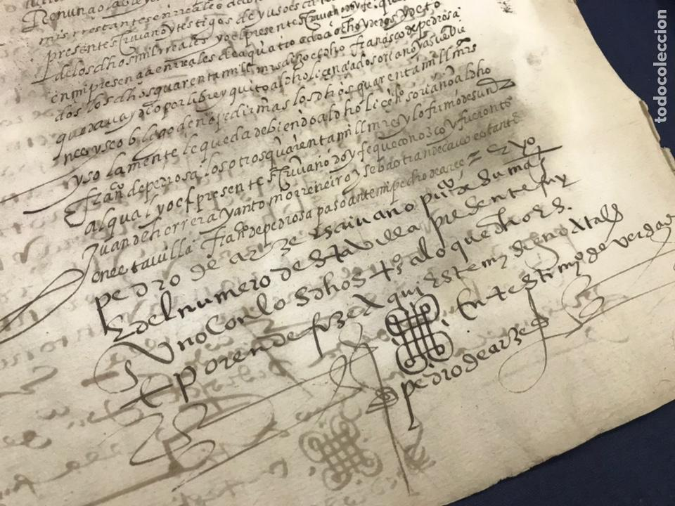 VALLADOLID 1581. FINIQUITO DE 80.000 DE FRANCISCO DE PEDROSA (Coleccionismo - Documentos - Manuscritos)