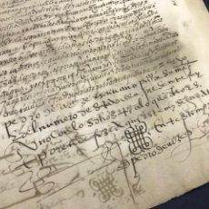 Manuscritos antiguos: VALLADOLID 1581. FINIQUITO DE 80.000 DE FRANCISCO DE PEDROSA. Lote 163764842
