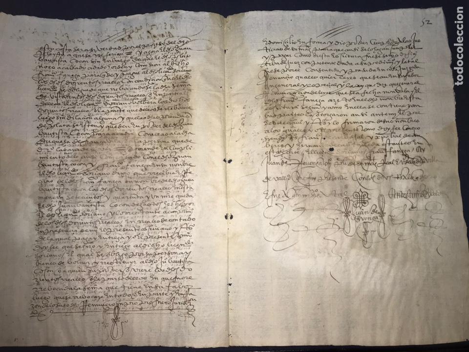 Manuscritos antiguos: VALLADOLID 1581. ESCRITURA DE PIEZAS DE PLATA DE LA DUQUESA DE FRANCAVILLA PODER DE JUAN BAUTISTA. - Foto 5 - 163951714