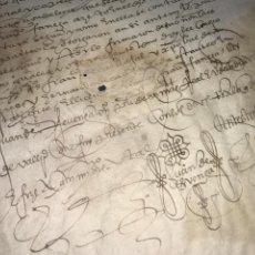 Manuscritos antiguos: VALLADOLID 1581. ESCRITURA DE PIEZAS DE PLATA DE LA DUQUESA DE FRANCAVILLA PODER DE JUAN BAUTISTA.. Lote 163951714