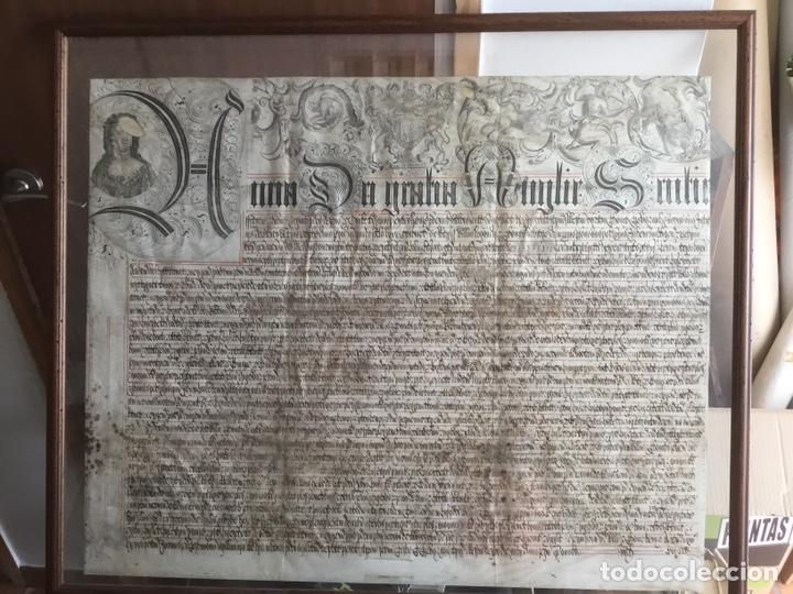 PERGAMINO INGLÉS CON ESCUDO REAL (Coleccionismo - Documentos - Manuscritos)