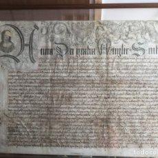 Manuscritos antiguos: PERGAMINO INGLÉS CON ESCUDO REAL. Lote 164441804