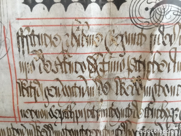 Manuscritos antiguos: Pergamino inglés con escudo real - Foto 6 - 164441804