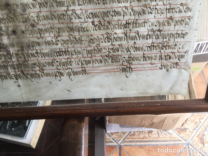Manuscritos antiguos: Pergamino inglés con escudo real - Foto 7 - 164441804