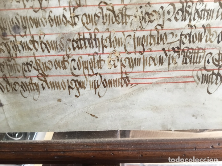 Manuscritos antiguos: Pergamino inglés con escudo real - Foto 8 - 164441804
