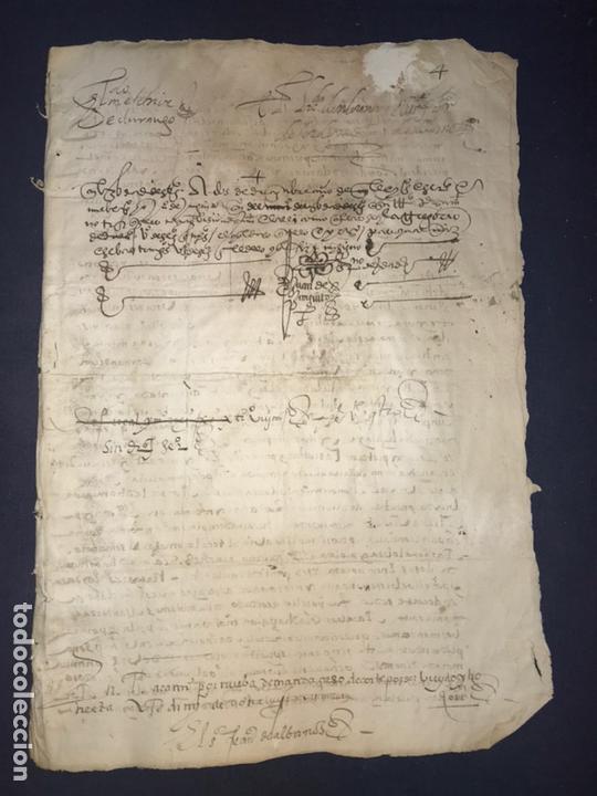 Manuscritos antiguos: 1579 FELIPE II. EMPLAZAMIENTO POR NUEVA DEMANDA. VALLADOLID, SEGOVIA. - Foto 2 - 164589442