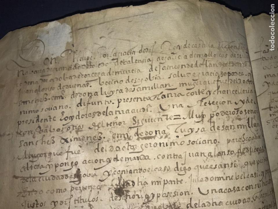 Manuscritos antiguos: 1579 FELIPE II. EMPLAZAMIENTO POR NUEVA DEMANDA. VALLADOLID, SEGOVIA. - Foto 6 - 164589442
