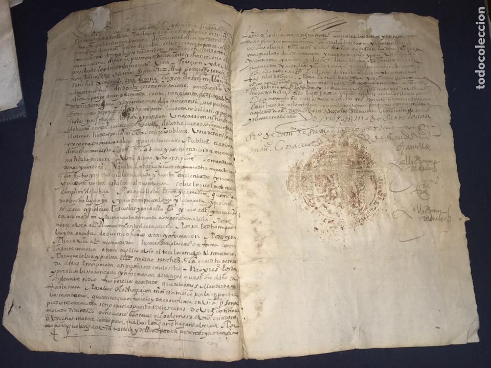 Manuscritos antiguos: 1579 FELIPE II. EMPLAZAMIENTO POR NUEVA DEMANDA. VALLADOLID, SEGOVIA. - Foto 7 - 164589442