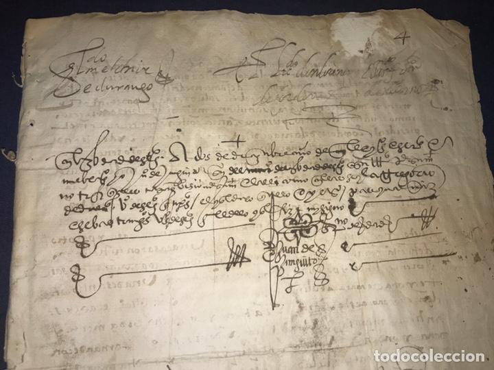Manuscritos antiguos: 1579 FELIPE II. EMPLAZAMIENTO POR NUEVA DEMANDA. VALLADOLID, SEGOVIA. - Foto 3 - 164589442