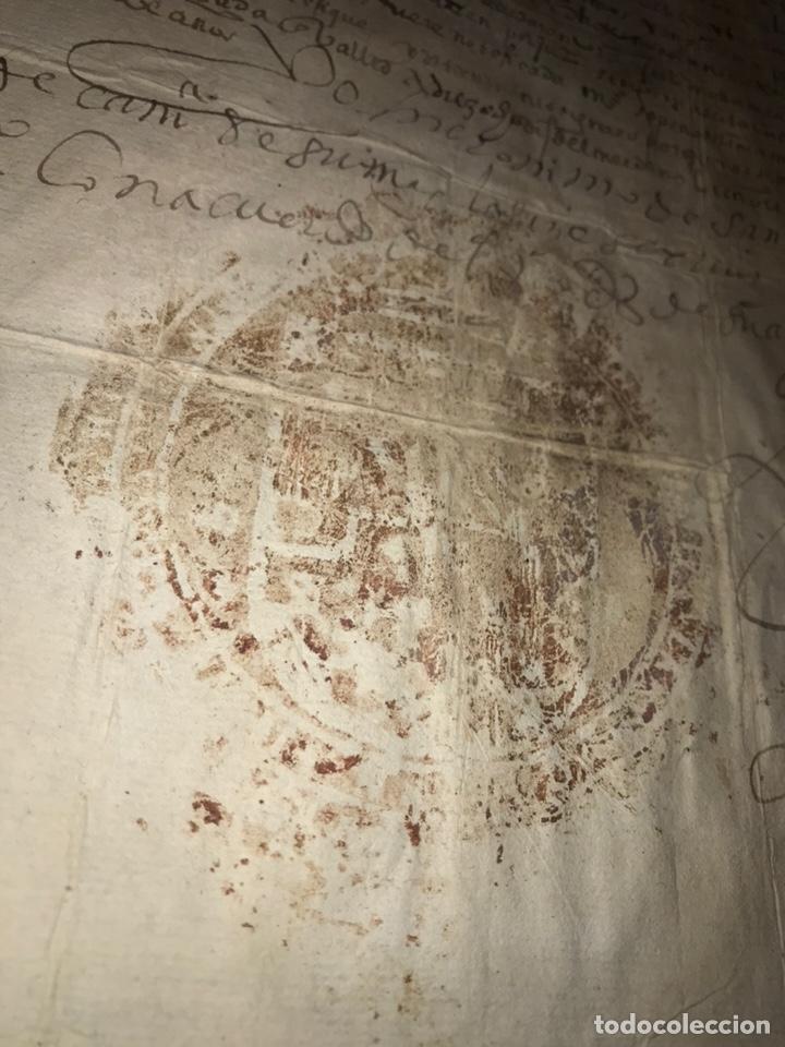 Manuscritos antiguos: 1579 FELIPE II. EMPLAZAMIENTO POR NUEVA DEMANDA. VALLADOLID, SEGOVIA. - Foto 4 - 164589442