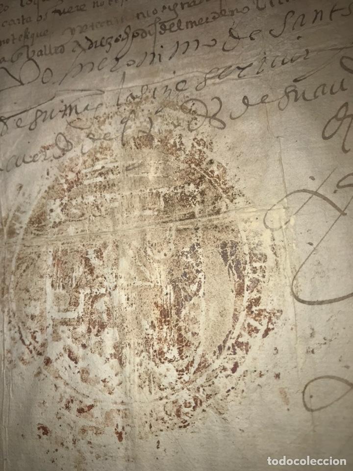 Manuscritos antiguos: 1579 FELIPE II. EMPLAZAMIENTO POR NUEVA DEMANDA. VALLADOLID, SEGOVIA. - Foto 5 - 164589442
