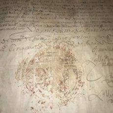 Manuscritos antiguos: 1579 FELIPE II. EMPLAZAMIENTO POR NUEVA DEMANDA. VALLADOLID, SEGOVIA.. Lote 164589442