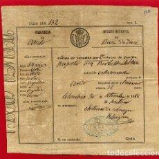 Manuscrits anciens: DOCUMENTO CEDULA DE VECINDAD, VILLANEVA OVIEDO 1886 ,ORIGINAL , D11 -16. Lote 164662078