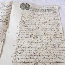 Manuscritos antiguos: FELIPE IV 1655. MANUSCRITO. PAPEL SELLADO O TIMBRADO, SELLO CUARTO (4º). Lote 164682776