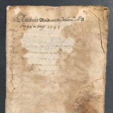 Manuscritos antiguos - 1599 - Rubrica de los actos de un notario de Calatayud - Manuscrito Aragón - 164698506