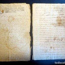 Manuscritos antiguos: LOTE DE 2 MANUSCRITOS PAPEL SELLADO, 20 MARAVEDÍES 1771, 272 MARAVEDÍES 1881, VER FOTOS. Lote 164719790