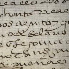 Manuscritos antiguos: 20 DE SEPTIEMBRE DE 1588. CARTA DE PAGO DEL JUEZ EJECUTOR. 140 REALES.. Lote 164723498