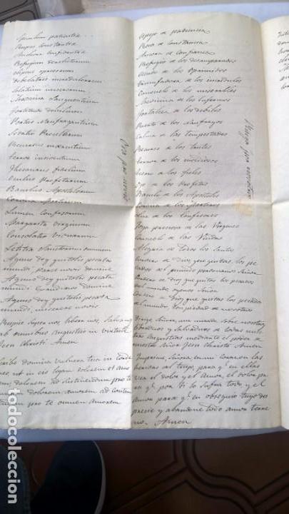 Manuscritos antiguos: Dos hojas manuscritas, conteniendo Letanías - - Foto 2 - 164842642